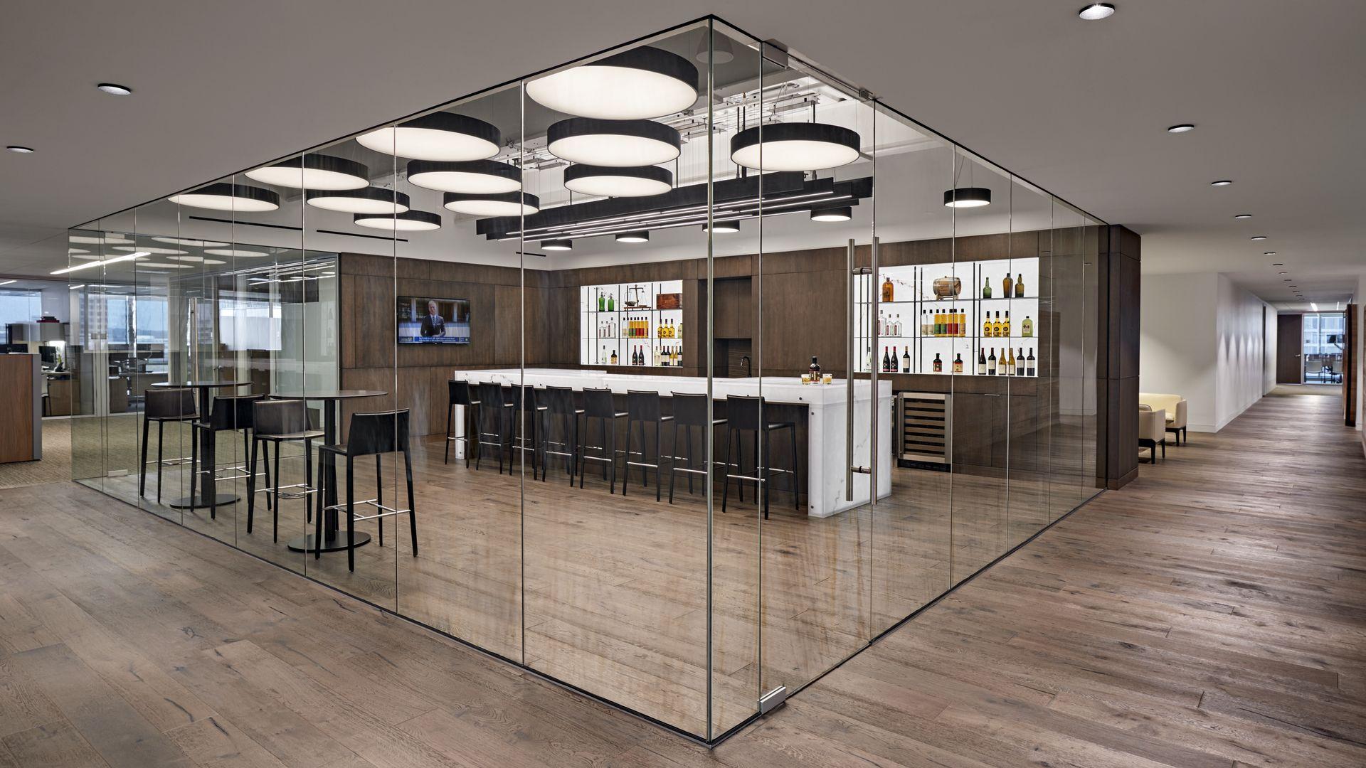 realizace Deutsch Family pro Wine & Spirits Offices, Stamford, USA
