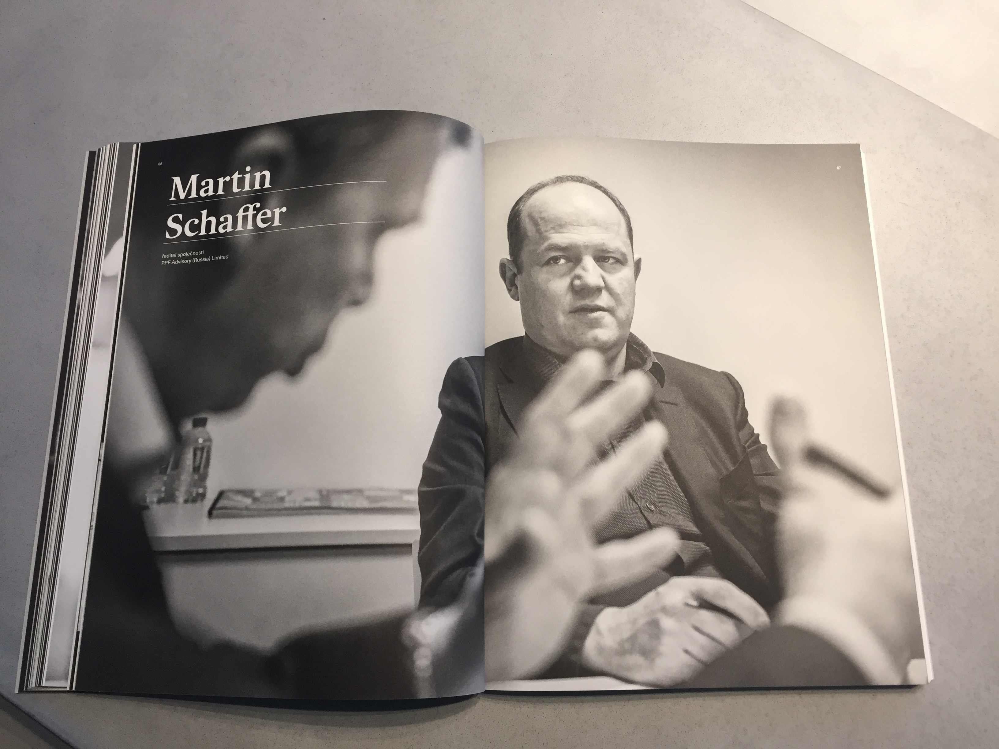 Martin Schaffer ve výroční zprávě PPF 2018